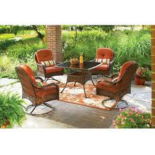 Patio Chairs With Ottomans Patio Ideas 5 Piece Patio Set Swivel Chairs Better Homes And