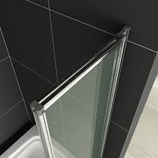 fold pivot folding bath shower screen glass over door panelseal fold pivot folding bath shower screen glass over door panelseal ebay