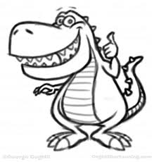 dinosaur cartoon character sketches coghill cartooning