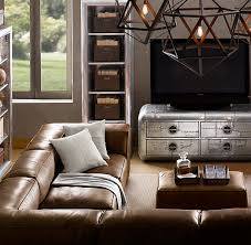 restoration hardware maxwell leather sofa restoration hardware leather sectional fulham sofa den throughout