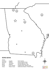 Georgia State Map by Georgia Map Worksheet Coloring Page Free Printable Coloring Pages