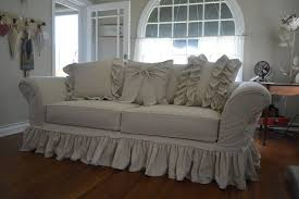 Shabby Chic Sofa Slipcover by Shabby Chic Linen Sofa Unbelievable Tree Trunk Coffee And Antique