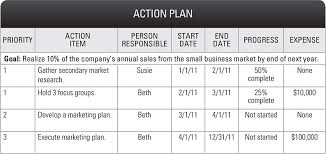 sample 5 year action plan on excel store online business template