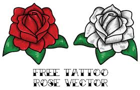 rose outline free vector 123freevectors