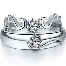 soulmate wedding ring angel wings diamond rings for genuine 925 sterling silver