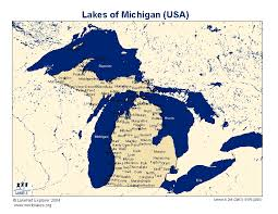 Michigan lakes images Lakes of michigan map michigan map jpg