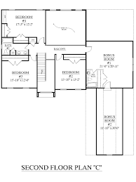 One Story Floor Plans With Bonus Room by House Plan 2995 C Springdale