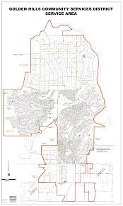 Sd Map District Boundary Map Golden Hills Community Services District