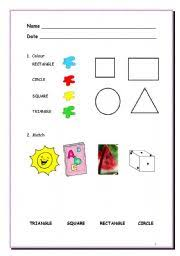 worksheet geometric shapes