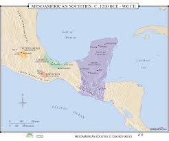 Mesoamerica Map Universal Map World History Wall Maps Mesoamerican Societies