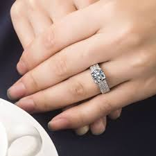 aliexpress buy 2ct brilliant simulate diamond men 2 carat simulate diamond ring for men hearts and arrows 925 silver