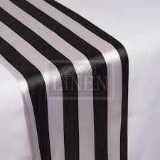 black and white table runners cheap 2 black white striped runner groovy linen trendy ottawa linen