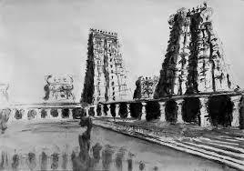 madurai meenakshi temple india drawing by uma krishnamoorthy