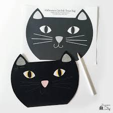 handmade halloween treat bags diy halloween cat treat bag bugaboocity