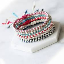 knot cord bracelet images Friendship bracelet with sliding knot waxed cord by grace valour jpg