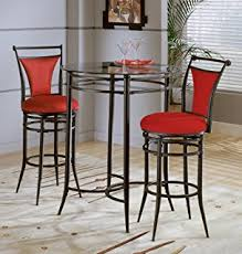 bar height glass table amazon com bar height beveled glass bistro table kitchen dining