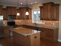unstained kitchen cabinets brown wooden hickory kitchen cabinets with unstained island in