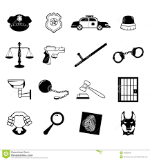 law enforcement icons stock vector image 40238618