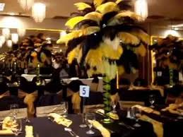 black and gold centerpieces black gold ostrich feather centerpieces at the charisma ballroom