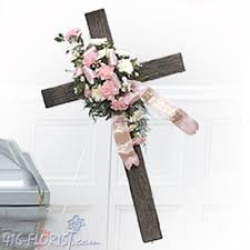 cross sympathy flowers to funeral homes