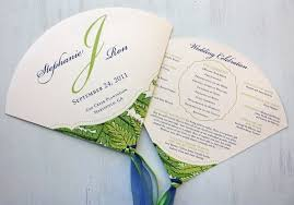 ceremony fans 60 inspirational wedding program fans cheap wedding idea