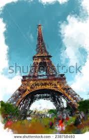 eiffel tower canvas stock images royalty free images u0026 vectors