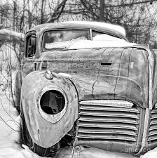 old cars black and white old hudson in the snow black and white photograph by edward fielding