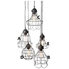 wire cage pendant light rustic wire cage industrial pendant ceiling light pendant lighting