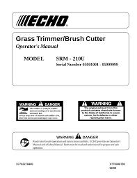 echo srm 210u user u0027s manual