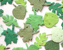 plantable paper plantable paper leaf etsy