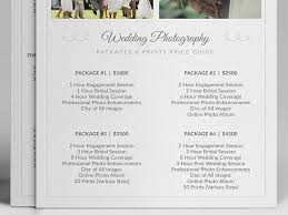photography wedding packages wedding photographer pricing guide stationery templates