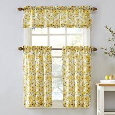 Sunflower Yellow Curtains Of The Window Sunflower Tier Kitchen Window Curtains