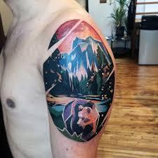 nice arm amazing geometric bear tattoo golfian com