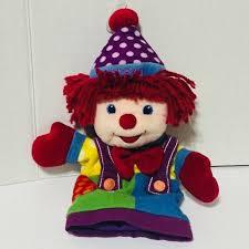 circus puppets gymbo circus clown rainbow puppet baby preschool gymboree
