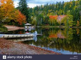 breathtaking fall colors reflected lake algonquin park