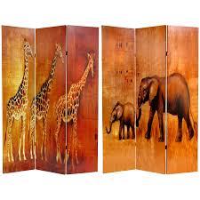 oriental room dividers 6 ft tall giraffe u0026 elephant room divider roomdividers com