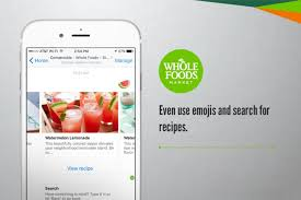 whole foods chatbot uses emojis to find recipes