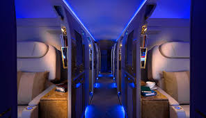 Interior Blue Emirates Executive Jet