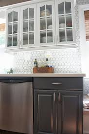 kitchen inspiring grey base kitchen cabinet and white floating