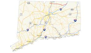 Connecticut State Map by Connecticut Route 190 Wikipedia