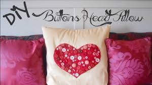 diy buttons heart pillow gift idea youtube