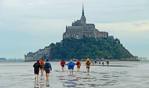a barefoot hike to mont saint michel france wilderness travel