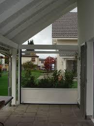 terrassenã berdachung mit balkon terrassen windschutz glas unique seitlicher windschutz fã r
