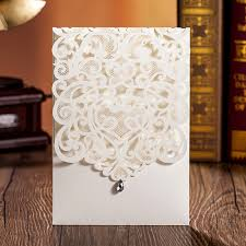 Wedding Invitation Card Maker Online Buy Wholesale Ivory White Card From China Ivory White Card