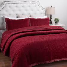 Purple Velvet Comforter Bedroom Enchanting Pinch Pleat Purple Comforter Set In King Size