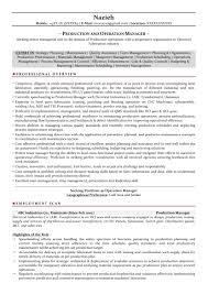 Operations Manager Resume Pdf Production Manager Resume Sample Pdf Sidemcicek Com