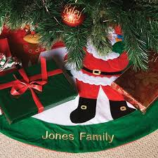personalised christmas tree skirt the gift experience