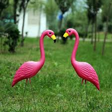 wholesale high quality pink flamingos plastic yard garden lawn