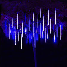 thrisdar 8pcs set 30cm 50cm meteor shower string light