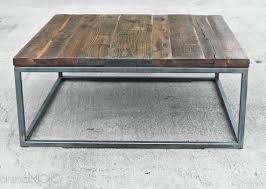 steel and wood table reclaimed wood coffee table steel base industrial table